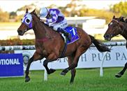 Rain Drum wins the Group 2 Shannon Stakes at Rosehill on 28th September